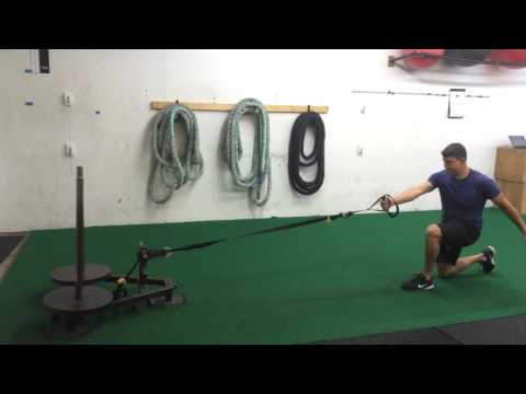 Reverse Lunge to Row