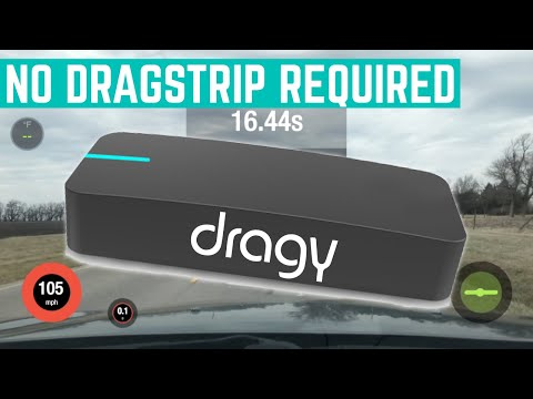 1/4 Mile Slip Vs Dragy performance meter 1st RUN - смотреть