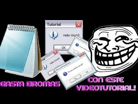 Crea mensajes que no se pueden cerrar/bloc de notas/broma para tus amigos/Tutorial en español
