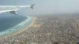 preview picture of video 'Décollage de l'aéroport de Dakar Sénégal A321'