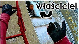 Skaczę po dachach w Łodzi - NA PRZYPALE - złapał mnie właściciel!