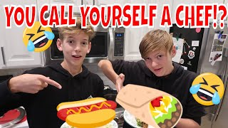 EPIC COOKING BATTLE - BROTHER VS BROTHER 😂