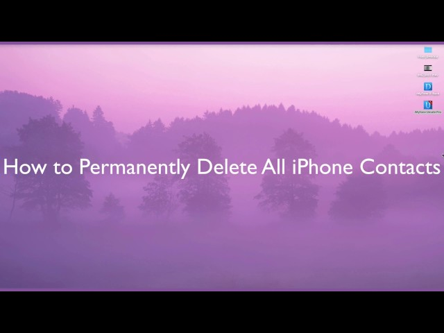 How to Permanently Delete All iPhone Contacts