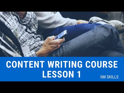 Content Writing Course Lesson 1 For Beginners by IIM SKILLS ...