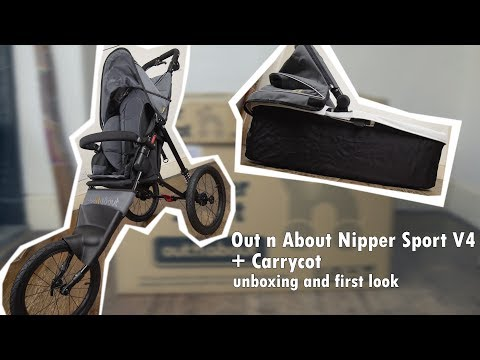 Out 'n' About Nipper Stroller V4 + Carrycot Unboxing and First look