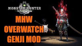 MHW Overwatch Genji MOD