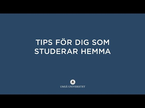 Film: Tips för dig som studerar hemma