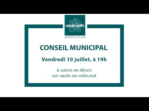 Conseil Municipal – vendredi 10 juillet 2020