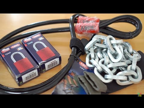Best Travel Luggage Lock?(v2) Pewag 9/32″ Chain, Abus 72/40 Padlocks, Cobra 10mm Cable [4K Unboxing]