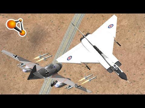 Me262 JET Plane vs Cars Crash Testing Beamng Drive