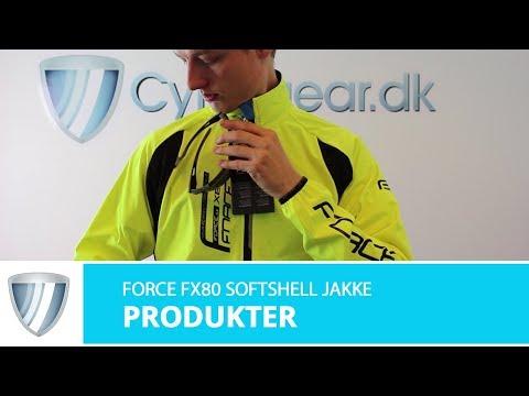 Force FX80 Softshell jakke sort video