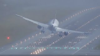 DANGEROUS landings and IMPRESSIVE Go arounds with NO VISIBILITY
