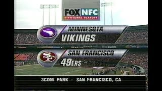 NFL on FOX - 1997 Divisional Playoffs open - Vikings vs 49ers