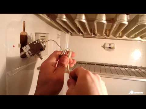 Ремонт холодильника ЗИЛ 64 КШ 260П. Замена термостата.