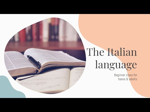 Italian Language | Beginner class for Teens & Adults - Presented by TakeLessonsTV