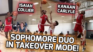 STATE CHAMPS Kanaan Carlyle & Isaiah Collier Form ELITE BACKCOURT! Sophomore Duo Go LOB CITY! 😱