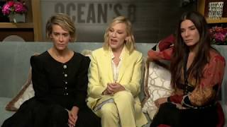 8 подруг Оушен: Сара Полсон, Кейт Бланшетт и Сандра Буллок интервью