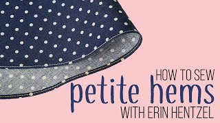 How To Sew Petite Hems For Doll Dresses