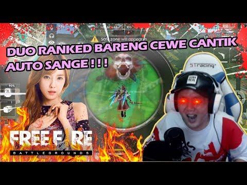 DUO RANKED BARENG CEWE CANTIK DI GODAIN SAMPE GAGAL BOYAHH - FREE FIRE INDONESIA