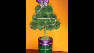 Украшения из бумаги,Handmade,Ёлочка своими руками.Christmas decoration.ქაღალდის ნაძვის ხე