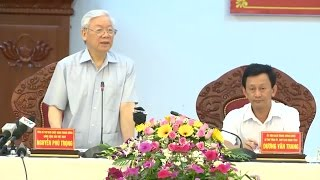 Tổng Bí thư Nguyễn Phú Trọng làm việc với lãnh đạo chủ chốt tỉnh Gia Lai