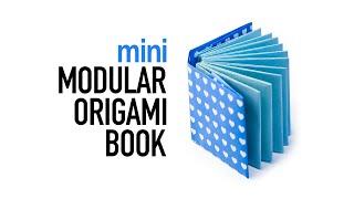 Mini Modular Origami Book Tutorial - DIY - Paper Kawaii
