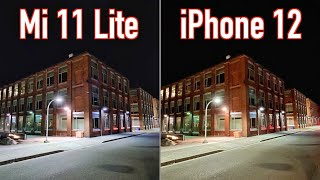 Xiaomi Mi 11 Lite VS iPhone 12 - Camera Comparison!