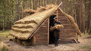 Budowa średniowiecznego domu | Budowa schroniska Bushcraft na 10 dni