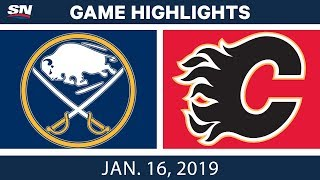 NHL Highlights | Sabres vs. Flames - Jan. 16, 2019