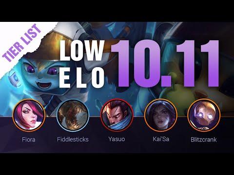LOW ELO LoL Tier List Patch 10.11 by Mobalytics - League of Legends Season 10