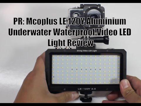 PR: Mcoplus LE 120Y Aluminium Underwater Waterproof Video LED Light Review