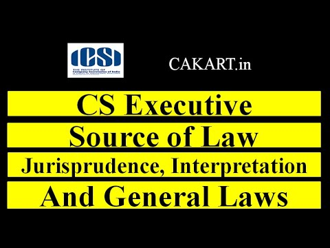 Jurisprudence, Interpretation and General Laws by prof Alok