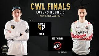 100 Thieves vs Gen.G | CWL Finals 2019 | Day 2
