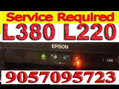 epson l380 red light blinking problem solution, Head Cleaning by