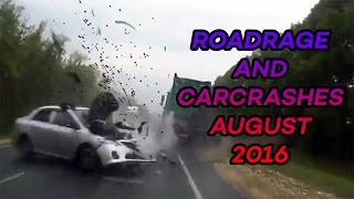 Road Rage & Car Crashes Compilation August 2016
