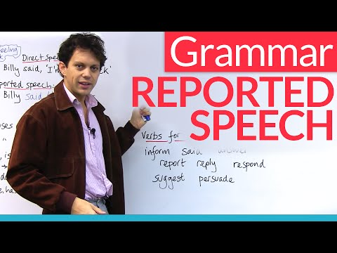 Learn English Grammar: Reported Speech / Indirect Speech