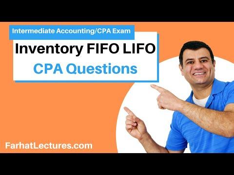 CPA Exam Practice Questions   Inventory FIFO LIFO   Intermediate ...