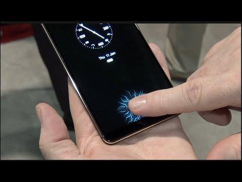 Cómo trabaja el sensor de huella dactilar en PANTALLA en el smartphone VIVO  CES 2018