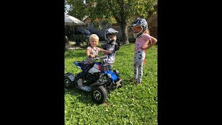 Coole Kids on quad 49ccm