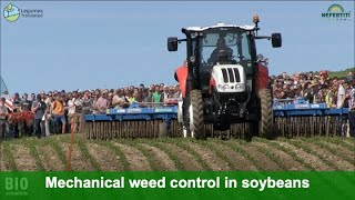 Mechanical weed control in soybeans – Demonstration of machines