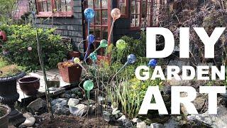 How To Make An Easy DIY Garden Sculpture - Using Glass Aqua Globes!!
