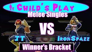 Child's Play 2015 - JT (Falcon) VS Iron Spazz (Shiek) SSBM Winner's R2