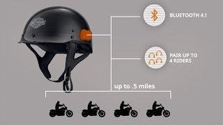 Harley Davidson Boom!™ Audio N01 Half Helmet with Bluetooth Intercom