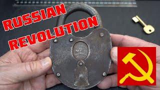 (1392) Russian 1917 Revolution 30-year Commemorative Padlock
