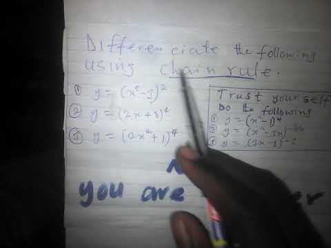 Chain rule  differenciation