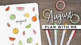 PLAN WITH ME | August 2018 Bullet Journal Setup