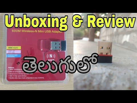 Mini USB Wifi Adapter (802.11N) Unboxing+Review in telugu | How to Make Desktop / PC WiFi Enabled