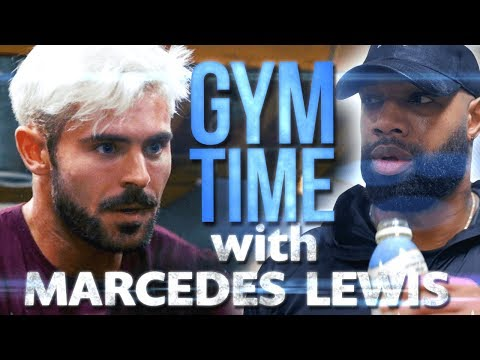 I Train with NFL Great Marcedes Lewis   Gym Time w/ Zac Efron
