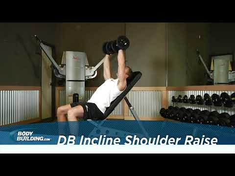 Dumbbell Incline Shoulder Raise   Exercise Videos & Guides   Bodybuilding com