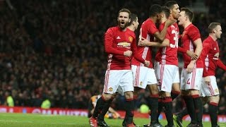 Manchester United 20 Hull City  EFL Cup  GOALS Mata Fellaini